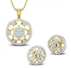 Diamond Pendant Half Set - 1.47 CT / 7.11 gm Gold