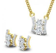 Diamond Pendant Half Set - 0.88 CT / 3.86 gm Gold