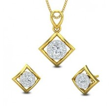 Diamond Pendant Half Set - 0.54 CT / 4.10 gm Gold
