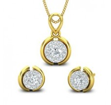 Diamond Pendant Half Set - 0.57 CT / 2.99 gm Gold