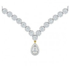 Natural Diamond Necklace 5.85 CT / 33.86 gm Gold