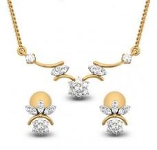 Natural Diamond Tanmaniya Set  0.50 CT / 3.35 gm Gold