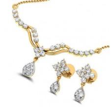 Natural Diamond Tanmaniya Set  0.72 CT / 3.68 gm Gold