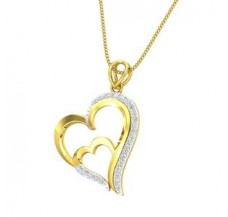 Diamond Heart  Pendant 0.24 CT / 2.40 gm Gold