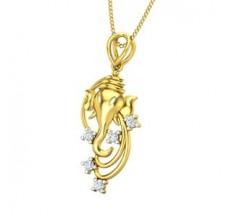 Diamond Pendant 0.12 CT / 1.60 gm Gold