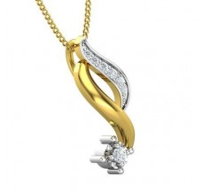 Diamond Pendant 0.07 CT / 1.50 gm Gold