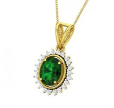 Diamond & Gemstone Pendant 2.86 CT / 3.38 gm Gold