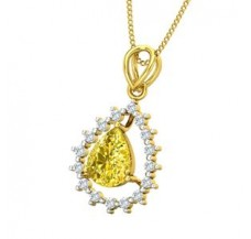 Diamond & Gemstone Gold Pendant