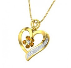 Diamond Heart Pendant 0.12 CT / 2.30 gm Gold