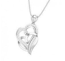 Diamond Heart Pendant 0.26 CT / 2.60 gm Gold