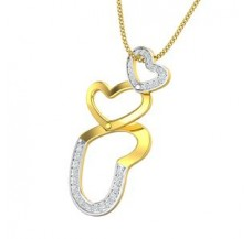 Diamond Heart Pendant 0.20 CT / 1.90 gm Gold
