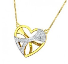 Diamond Heart Pendant 0.28 CT / 2.25 gm Gold