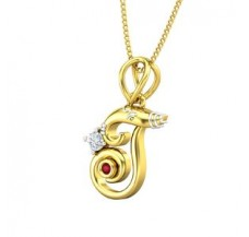 Diamond & Gemstone Pendant 0.06 CT / 1.47 gm Gold
