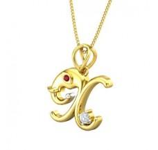 Diamond & Gemstone Pendant 0.06 CT / 2.91 gm Gold