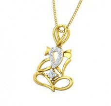 Diamond Pendant 0.11 CT / 1.10 gm Gold