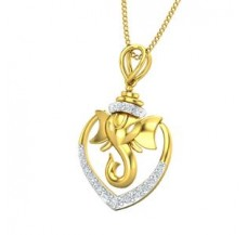 Diamond Pendant 0.16 CT / 1.40 gm Gold