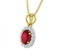Diamond & Gemstone Pendant 1.16 CT / 0.75 gm Gold