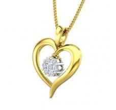 Diamond Pendant 0.12 CT / 1.22 gm Gold