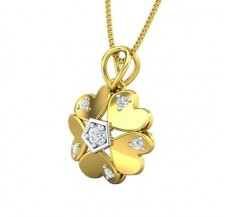 Diamond Pendant 0.16 CT / 2.30 gm Gold