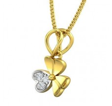 Diamond Pendant 0.03 CT / 0.65 gm Gold