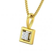Natural Diamond Pendant 0.012 CT / 0.40 gm Gold