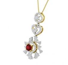 Diamond & Gemstone Pendant 2.88 CT / 6.26 gm Gold