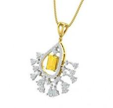 Diamond & Gemstone Pendant 1.61 CT / 5.36 gm Gold