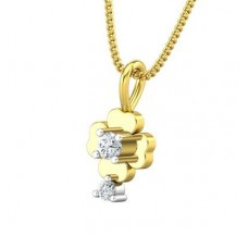 Diamond Pendant 0.09 CT / 0.70 gm Gold