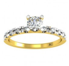 Natural Diamond Solitaire Ring 0.31 CT / 2.00 gm Gold