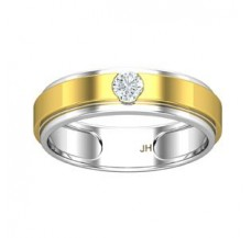 Natural Diamond Band for Men 0.25 CT / 5.71 gm Gold