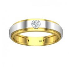 Natural Diamond Band for HER 0.14 CT / 3.10 gm Gold