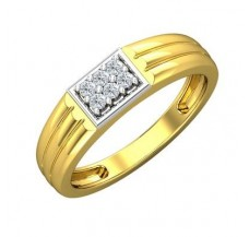 Diamond Ring for Men 0.15 CT / 4.31 gm Gold