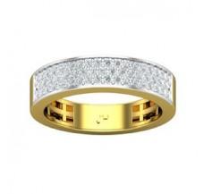 Natural Diamond Band Ring 0.53 CT / 5.10 gm Gold