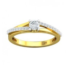 Natural Diamond Solitaire Ring 0.41 CT / 3.00 gm Gold