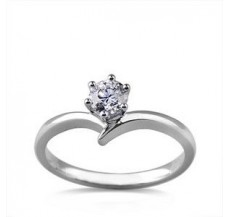 Diamond Solitaire Ring 0.25 CT / 2.00 gm Gold
