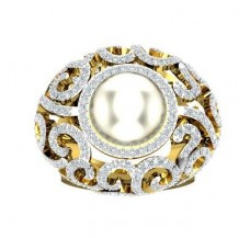 Diamond Pearl Ring 2.13 CT / 17.00 gm Gold