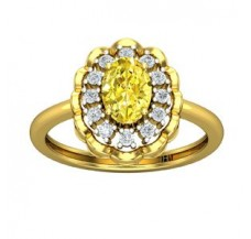 Diamond & Gemstone Gold Ring