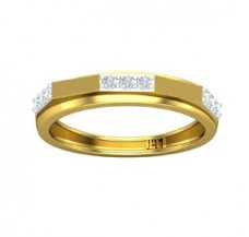 Natural Diamond Band for HER 0.22 CT / 2.73 gm Gold
