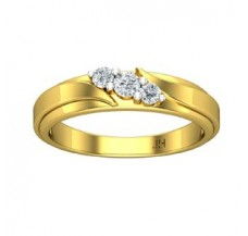 Natural Diamond Band for HER 0.20 CT / 2.30 gm Gold