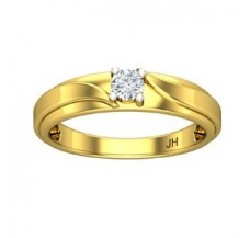 Natural Diamond Band for Men 0.25 CT / 5.20 gm Gold