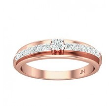 Natural Diamond Band for HER 0.31 CT / 2.90 gm Gold