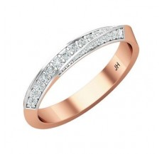 Natural Diamond Band for HER 0.30 CT / 2.45 gm Gold