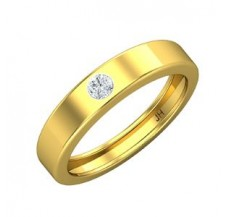 Natural Diamond Band for Men 0.16 CT / 4.70 gm Gold