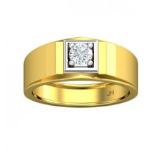 PreSet Solitaire Natural Diamond Ring for Men 0.40 CT / 7.40 gm Gold