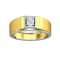 PreSet Natural Solitaire Diamond Ring for Men 0.30 CT / 7.40 gm Gold