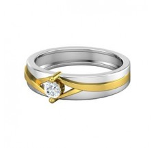 Natural Diamond Band for Men 0.25 CT / 5.30 gm Gold