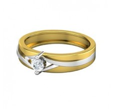 Natural Diamond Band 0.16 CT / 3.30 gm Gold