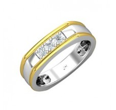 Natural Diamond Band for HER 0.21 CT / 4.70 gm Gold