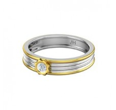 Natural Diamond Band for Men 0.15 CT / 4.70 gm Gold