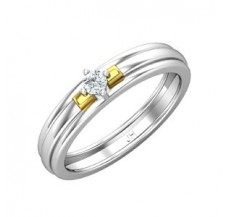 Natural Diamond Band for Men 0.15 CT / 4.60 gm Gold
